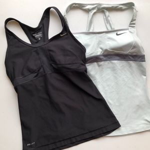 2 NIKE Dry-Fit Work Out Tanks Size Small